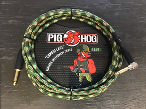 Pig Hog 10ft guitar cable camo