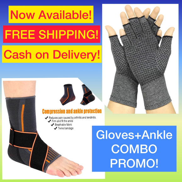 Ankle Compression + Compression Gloves COMBO PROMO