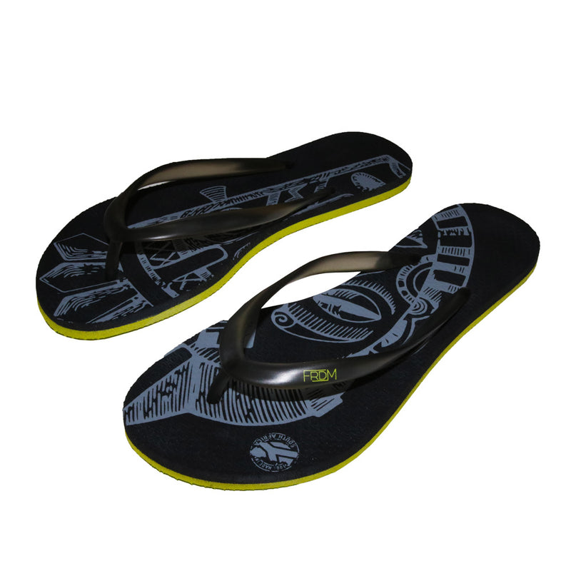 Mask Black Flip Flops (Ladies)