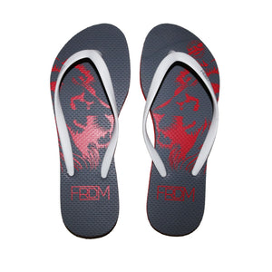 Red Lion Grey Flip Flops (Ladies)