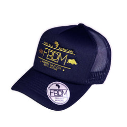 Foam Trucker Navy Gold