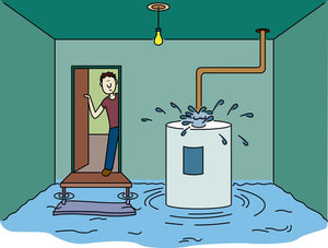 SIMPLESENCE® LEAK DETECTORS HELP KEEP WATER HEATERS IN THEIR PLACE