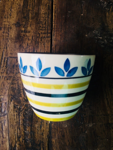 Printed Cup Shape Pot (Small)
