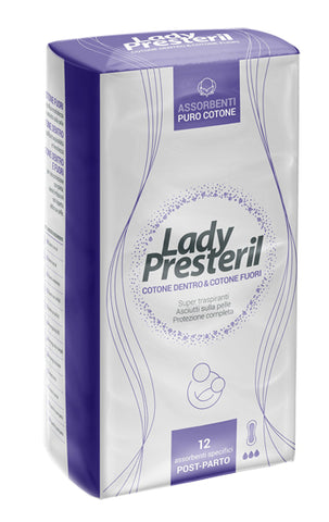 LADY PRESTERIL ASSORBENTI POST PARTO 12 PEZZI