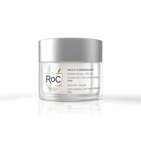 ROC MULTI CORREXION REVIVE+GLOW CREMA VISO UNIFORMANTE RICCA