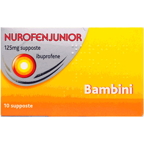 NUROFENJUNIOR 10 SUPPOSTE 125MG