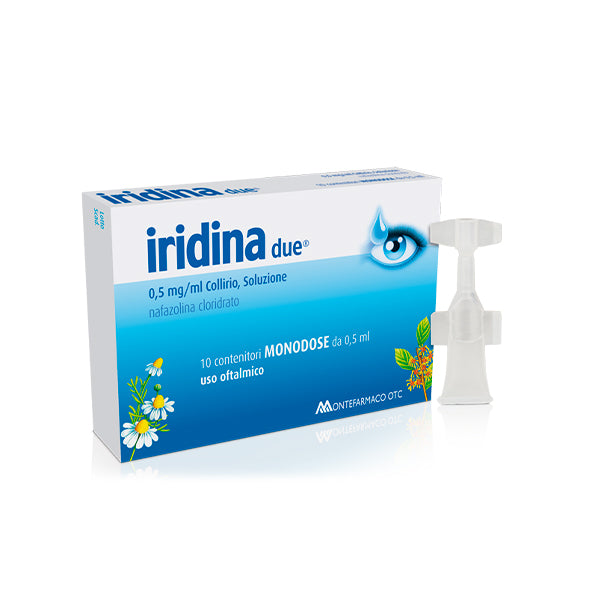 IRIDINA DUE COLLIRIO 10 FLACONCINI 0,5ML (MAX 6)