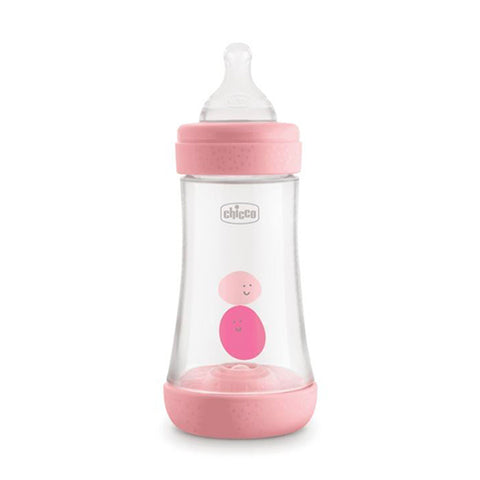 CHICCO BIBERON PERFECT 5 ROSA GIRL 2 FORI 240ML