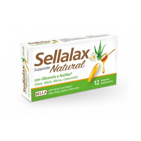 SELLALAX NATURAL MD 12 SUPPOSTE
