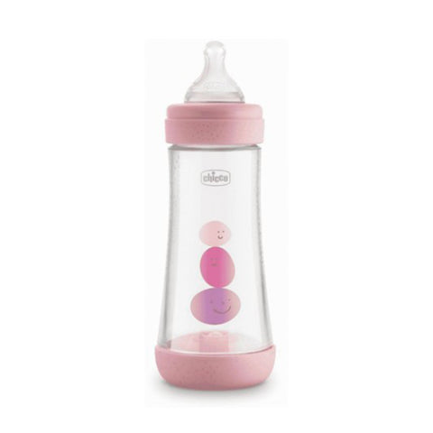 CHICCO BIBERON PERFECT 5 ROSA GIRL 3 FORI 300ML