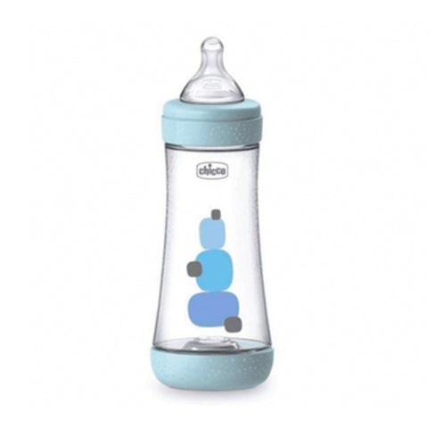 CHICCO BIBERON PERFECT 5 BLU BOY 3 FORI 300ML