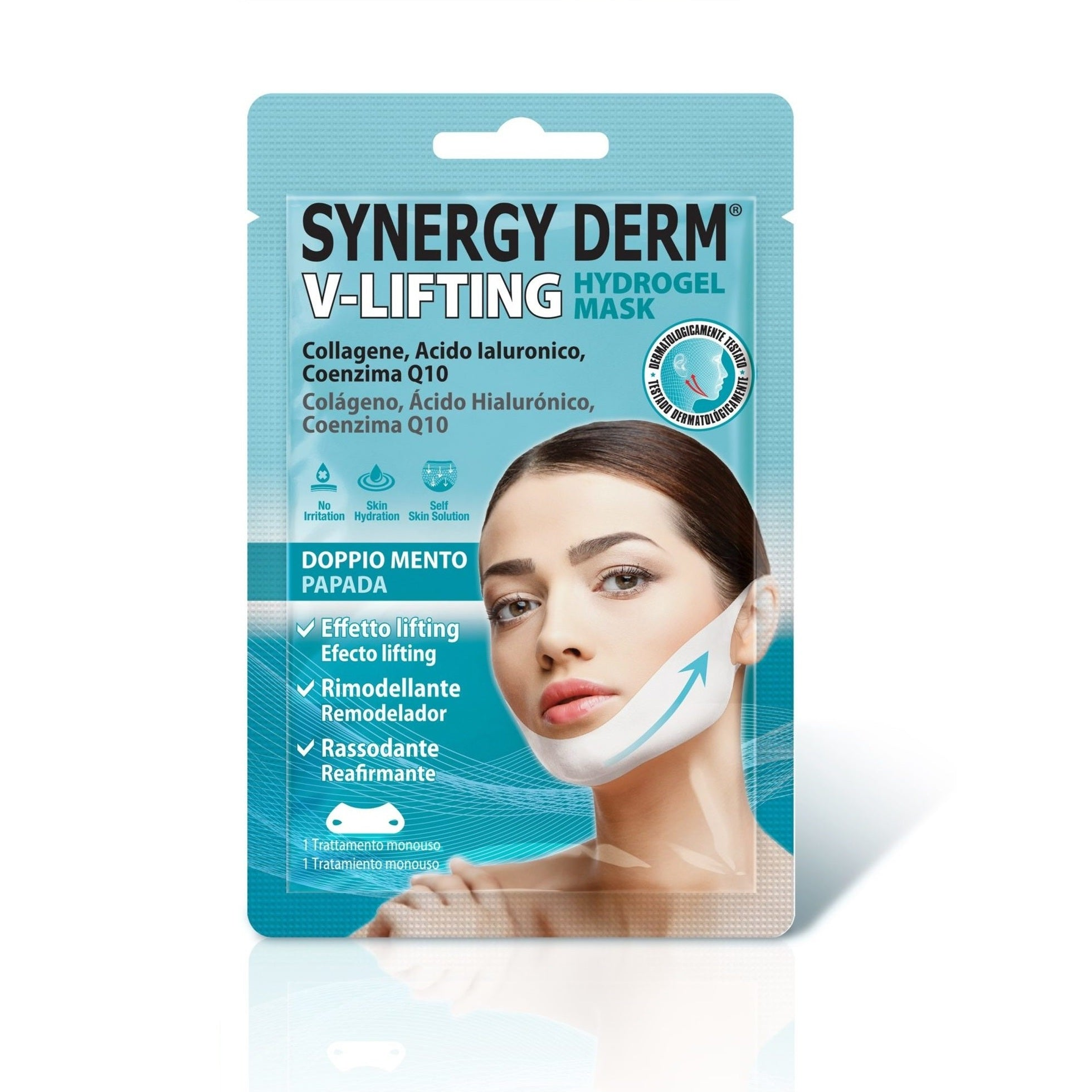 SYNERGY DERM V-LIFTING HYDROGEL MASK DOPPIO MENTO