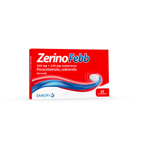 ZERINOFEBB ADULTI 15 COMPRESSE 300MG+150MG