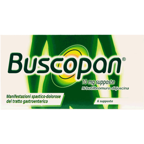 BUSCOPAN 6 SUPPOSTE 10MG