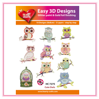 3D Diecuts and Toppers > Hearty Crafts 3D Toppers