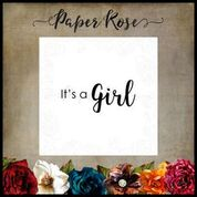 PAPER ROSE  STAMPS  ITS A GIRL