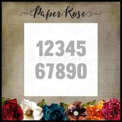 PAPER ROSE DIE  NUMBERS