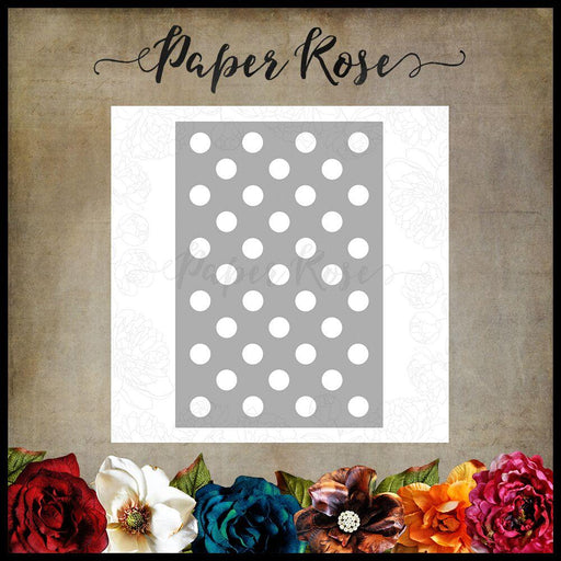 PAPER ROSE DIE SPOT BACKGROUND