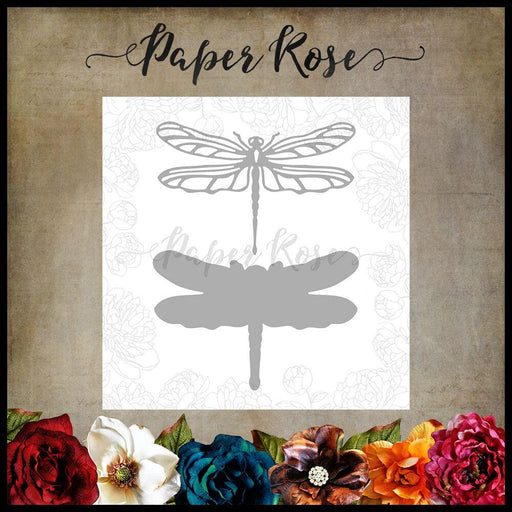 PAPER ROSE DIE  DRAGONFLY LARGE