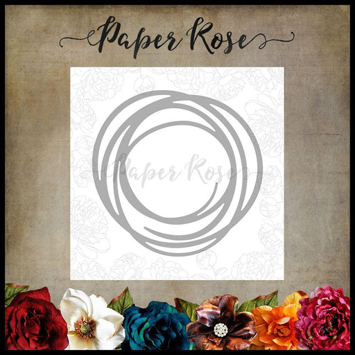 PAPER ROSE DIE  SCRIBBLE CIRCLE LARGE