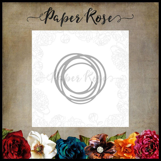 PAPER ROSE DIE  SCRIBBLE CIRCLE SMALL