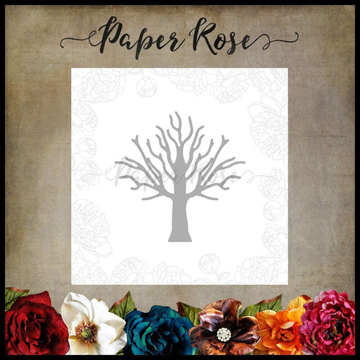 PAPER ROSE DIE  TREE SMALL