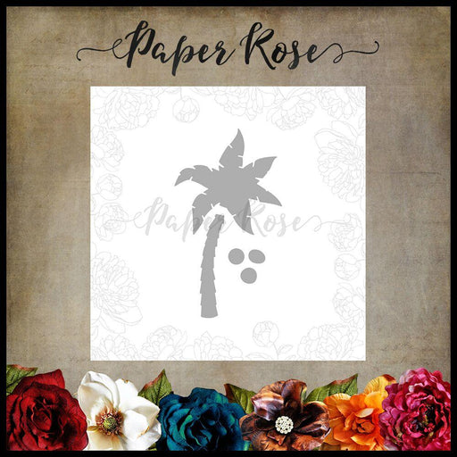 PAPER ROSE DIE  PALM TREE  SMALL