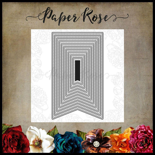 PAPER ROSE DIE  BANNER 1 LARGE