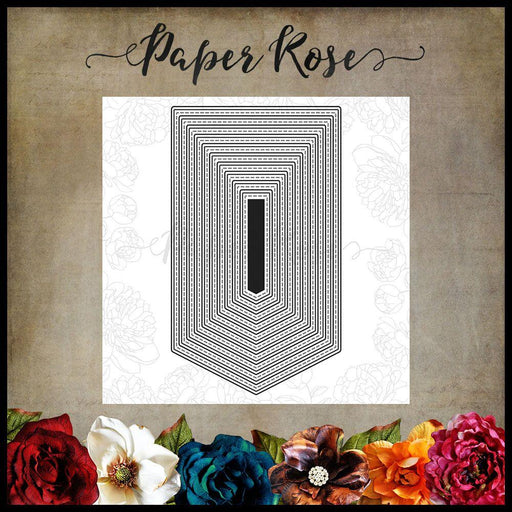 PAPER ROSE DIE  BANNER 2 LARGE