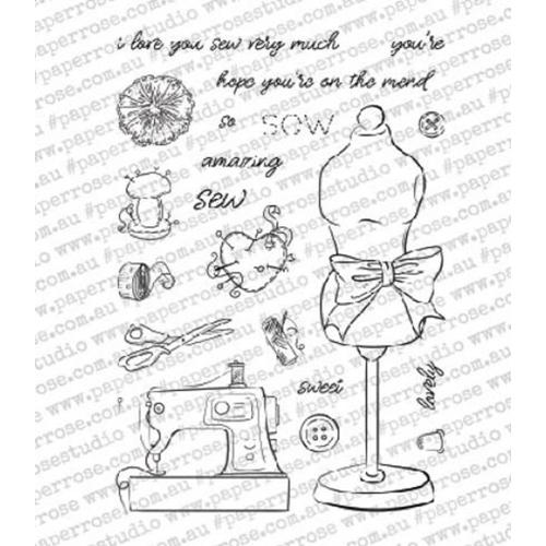 PAPER ROSE  STAMPS SEW LOVELY 4 X 6