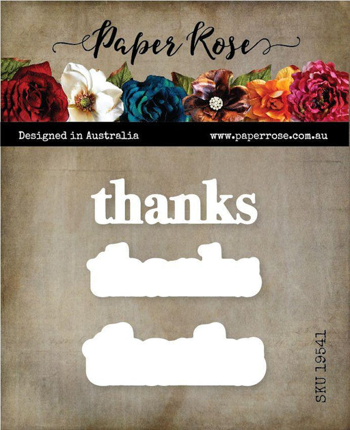 PAPER ROSE DIE  THANKS CHUNKY