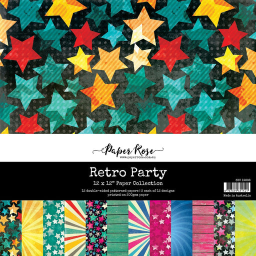 PAPER ROSE PAPER PAD 12 X 12 RETRO PARTY