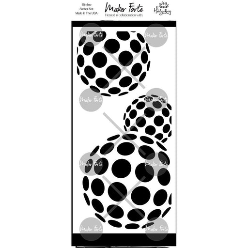 MAKER FORTE STENCIL  BOUNCE BALL 4 X 8 INCH