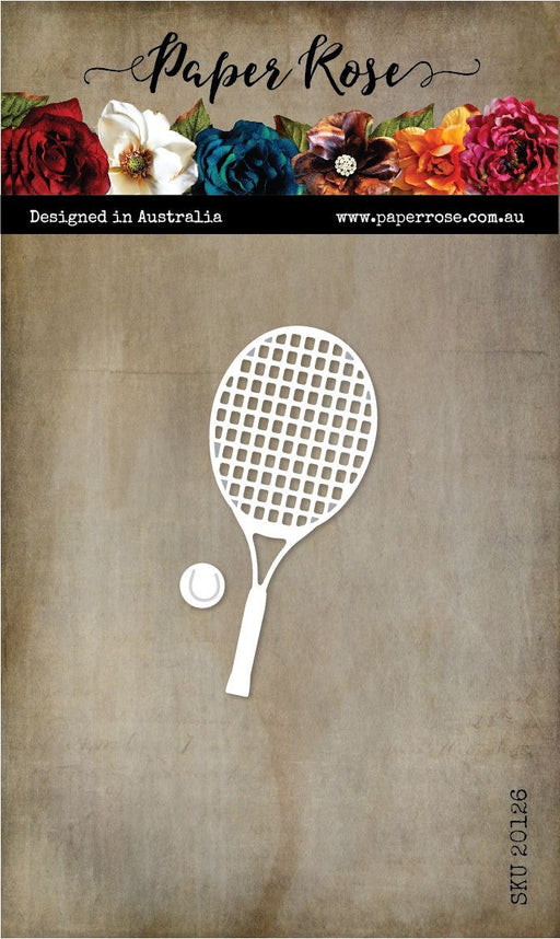 PAPER ROSE DIE   TENNIS RACKET AND BALLS