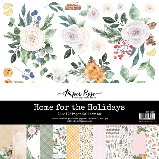 PAPER ROSE PAPER  12 X 12 HOME FOR THE HOLIDAYS