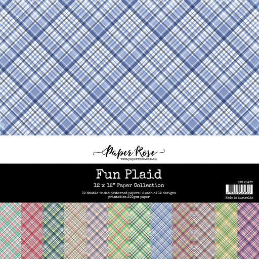 PAPER ROSE PAPER  12 X 12  FUN PLAID