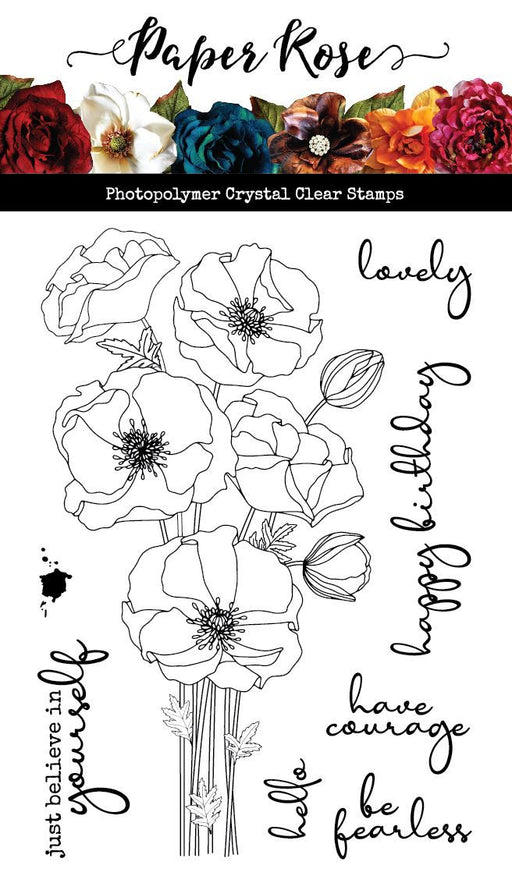 PAPER ROSE  STAMPS   MODERN POPPIES