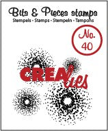 CREALIES CREA CLEAR STAMP  BITS AND PIECES 40