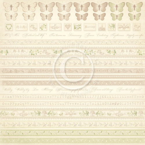 PION 12X12 VINTAGE WEDDING BORDERS