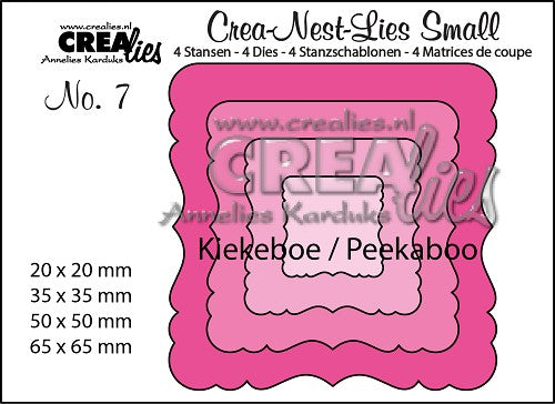 CREALIES CREA DIES  PEEKABOO ORNAMENT SQUARE