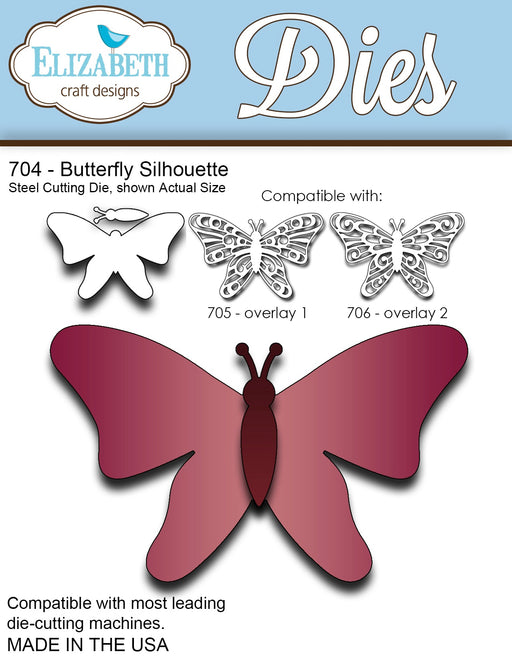 ELIZABETH CRAFT DESIGN DIES BUTTERFLY SILHOUETTE