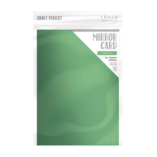 TONIC CRAFT PERFECT  A4 MIRROR CARD 5PK   SMOOTH MINT