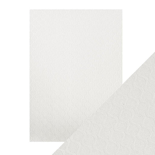 TONIC CRAFT PERFECT  A4 EMBOSSED CARD 5PK PEARL RIPPLE