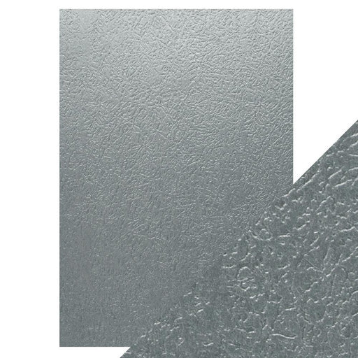 TONIC CRAFT PERFECT  A4 EMBOSSED CARD 5PK  ICE GREY