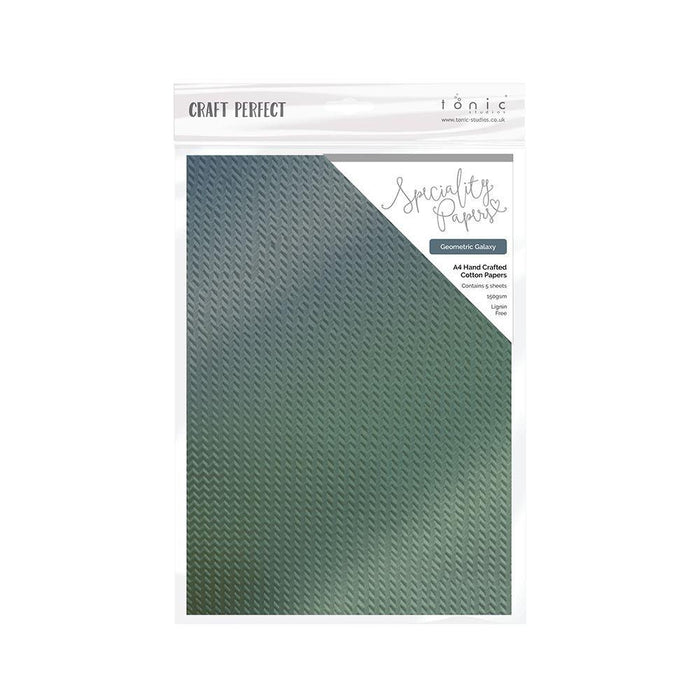 TONIC CRAFT PERFECT CARD STOCK A4 5PK  GEOMETRIC GALAXY