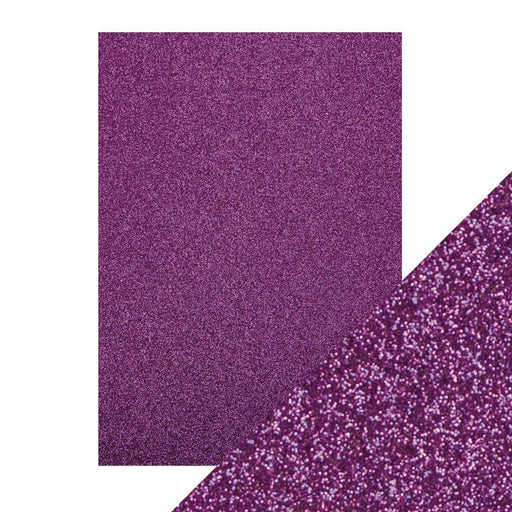 TONIC CRAFT PERFECT  A4 GLITTER CARD 5PK NEBULA PURPLE