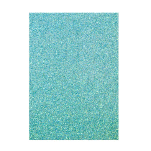 TONIC CRAFT PERFECT  A4 GLITTER CARD 5PKT TROPICAL TIDE