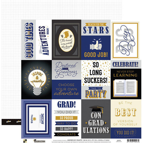 AMERICAN  CRAFT 12 X12 PAPER GRADUATION  CELRBRATIONS