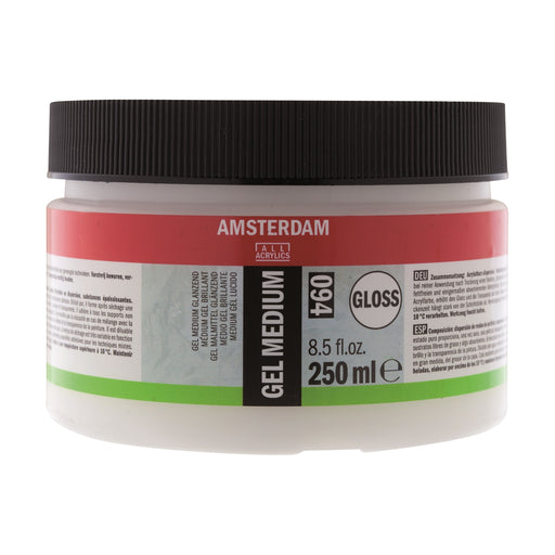 AMSTERDAM  GEL MEDIUM GLOSS 250ML