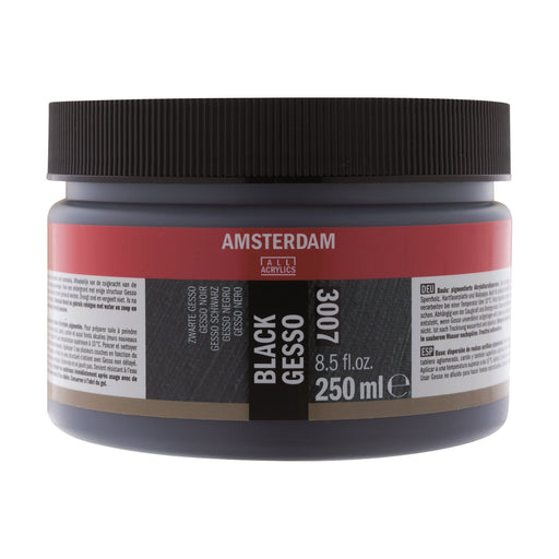 AMSTERDAM  GESSO BLACK  250ML